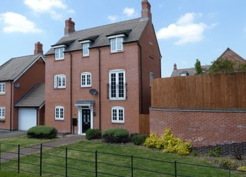 Thumbnail 4 bed detached house for sale in Cranfield Avenue, Church Gresley