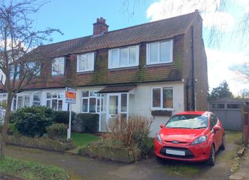 Thumbnail 3 bed semi-detached house for sale in Corbet Road, Ewell, Epsom