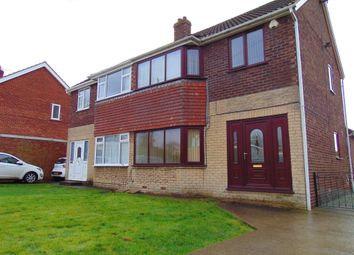 Thumbnail 3 bed semi-detached house for sale in Poplar Close, Eggborough, Goole