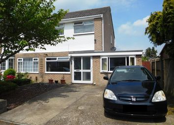 Thumbnail 4 bed semi-detached house for sale in Carisbrooke Crescent, Hamworthy, Poole