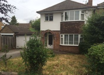 Thumbnail 3 bed semi-detached house to rent in Woodfield Road, Oadby, Leicester