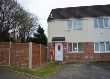 Thumbnail 1 bed semi-detached house to rent in Fishers Close, Little Billing, Northampton