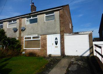 Thumbnail 3 bed semi-detached house for sale in Crawford Close, Beddau, Pontypridd