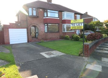 Thumbnail 3 bed semi-detached house to rent in The Oval, Middlesbrough