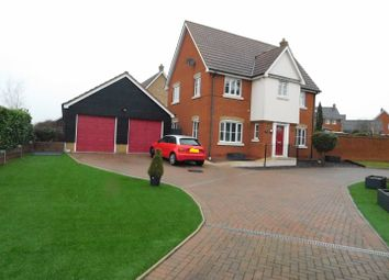 Thumbnail 4 bed detached house for sale in Dunnock Close, Stowmarket