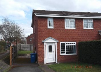 Thumbnail 2 bedroom semi-detached house to rent in Loughshaw, Tamworth