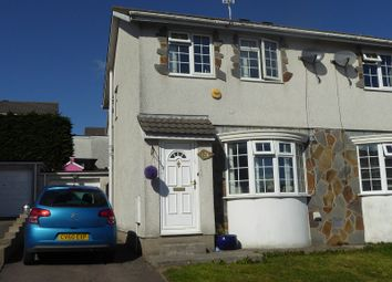 Thumbnail 3 bedroom semi-detached house for sale in Ty Gwyn Drive, Brackla, Bridgend.