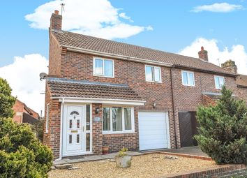 Thumbnail 3 bedroom semi-detached house for sale in Raskelf Road, Easingwold, York