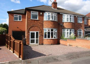 Thumbnail 4 bed semi-detached house for sale in Cardinals Walk, Leicester
