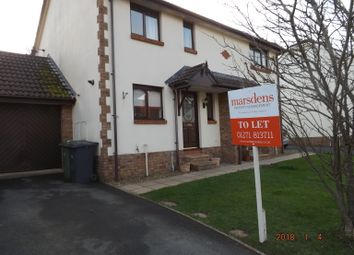 Thumbnail 2 bed semi-detached house to rent in Pathfield Close, Barnstaple