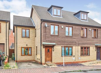 Thumbnail 5 bed semi-detached house for sale in Kelling Way, Broughton, Milton Keynes