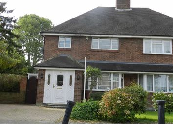 Thumbnail 3 bed semi-detached house to rent in Barber Close, Winchmore Hill, London