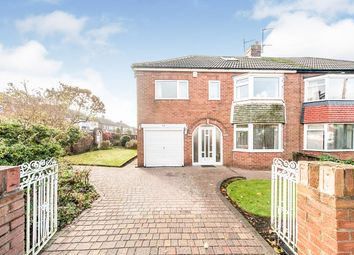 Thumbnail 5 bedroom semi-detached house for sale in Cortina Avenue, Sunderland, Tyne And Wear