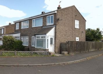 Thumbnail 3 bedroom semi-detached house for sale in Chevington Close, Pegswood, Morpeth