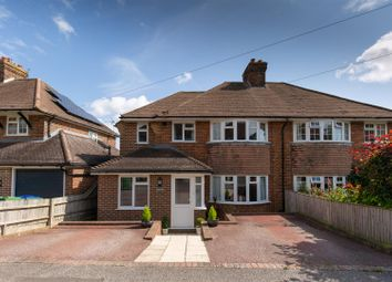 Thumbnail 3 bed semi-detached house for sale in Caburn Crescent, Lewes