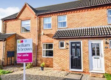 Thumbnail 2 bed terraced house for sale in Gloucester Close, Bracebridge Heath, Lincoln