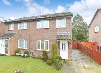 Thumbnail 3 bed semi-detached house for sale in Wooding Grove, Tollgate Hill, Crawley, West Sussex