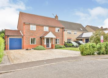 Thumbnail 4 bed detached house for sale in Brailsford Close, Dereham