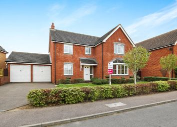 Thumbnail 4 bed detached house for sale in Hubbards Close, Saxmundham