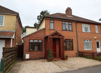 Thumbnail 3 bed semi-detached house for sale in Woodland Road, Hellesdon, Norwich