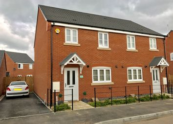 Thumbnail 3 bed semi-detached house for sale in Simpson Road, Stoney Stanton, Leicester