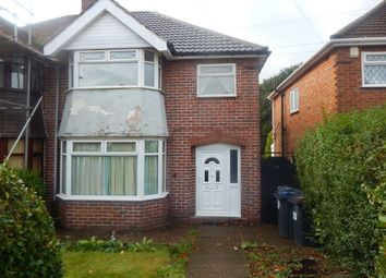 Thumbnail 3 bed semi-detached house to rent in Farren Road, Northfield, Birmingham