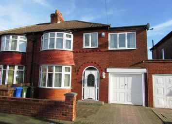 Thumbnail 4 bed semi-detached house for sale in Shirley Avenue, Dane Bank, Denton, Manchester