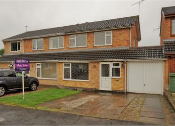 Thumbnail 3 bed semi-detached house for sale in Whitby Close, Broughton Astley