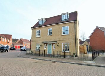 Thumbnail 5 bed detached house for sale in Carus Crescent, Highwoods, Colchester, Essex