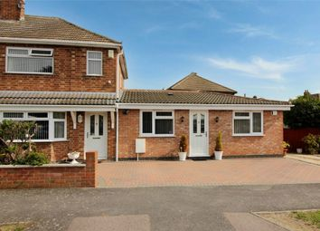 Thumbnail 3 bed semi-detached house for sale in Lowland Avenue, Leicester Forest East, Leicester