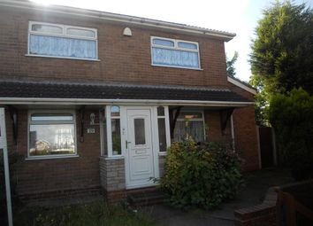 Thumbnail 3 bed semi-detached house to rent in Brindley Road, West Bromwich
