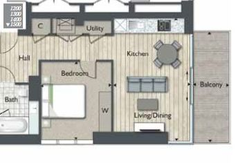 Thumbnail 1 bed flat for sale in Meranti House, Goodmans Field, Leman Street