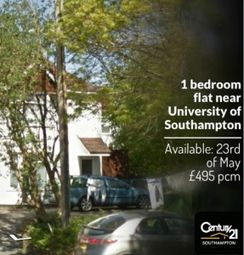 Thumbnail 1 bed flat to rent in Swaythling, Hampshire