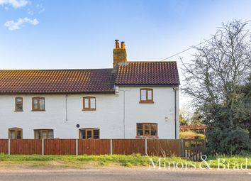 Thumbnail 3 bed semi-detached house for sale in Oak Lodge Cottages, North Walsham Road, Norwich
