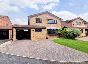 Thumbnail 4 bed detached house for sale in Long Meadow, Newcastle