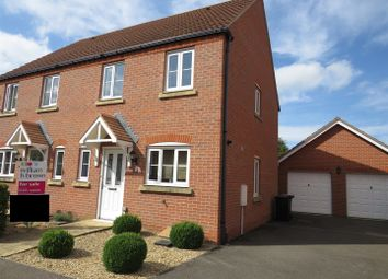 Thumbnail 3 bed semi-detached house for sale in Benstead Close, Heacham, King's Lynn