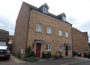 Thumbnail 3 bed town house for sale in Parish Close, Putnoe, Bedford