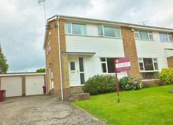 Thumbnail 3 bed semi-detached house to rent in Roston Close, Dronfield Woodhouse