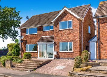 Thumbnail 4 bed detached house for sale in Harefield Avenue, Leicester