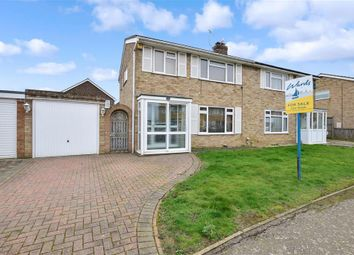 Thumbnail 3 bed semi-detached house for sale in Ravensbourne Avenue, Herne Bay, Kent