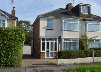 Thumbnail 3 bed semi-detached house for sale in The Crescent, Purbrook, Waterlooville
