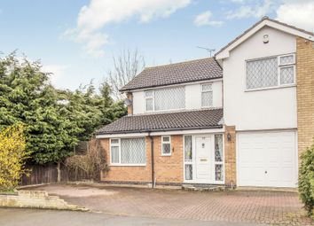 Thumbnail 4 bed detached house for sale in Rosemead Drive, Oadby