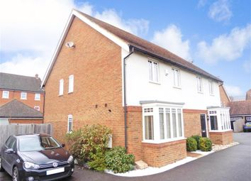 Thumbnail 3 bed semi-detached house for sale in Newman Road, Horley, Surrey