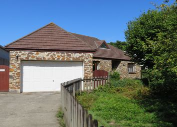 Thumbnail 4 bedroom detached bungalow for sale in Crowlas, Penzance