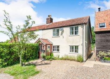 Thumbnail 3 bed semi-detached house for sale in High Common, North Lopham, Diss