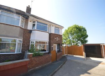 Thumbnail 3 bed semi-detached house for sale in Ambleside Avenue, Moreton, Wirral