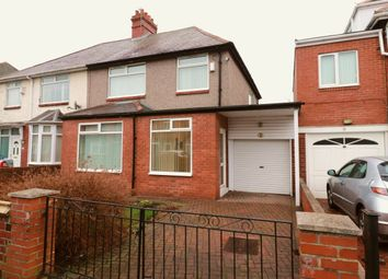 Thumbnail 3 bed semi-detached house for sale in Milvain Avenue, Newcastle Upon Tyne