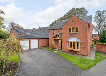 Thumbnail 4 bed detached house for sale in Manor Gardens, Desford, Leicester