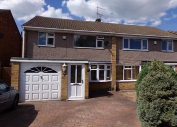 Thumbnail 3 bed semi-detached house for sale in Packer Avenue, Leicester Forest East, Leicester