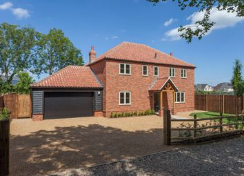 Thumbnail 4 bed detached house for sale in Hillsend Lane, Attleborough